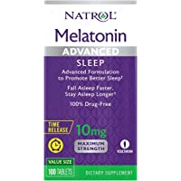 Natrol, Melatonin Advanced Sleep Tablets with Vitamin B6 Helps You Fall Asleep Faster Stay Asleep Longer 2Layer…