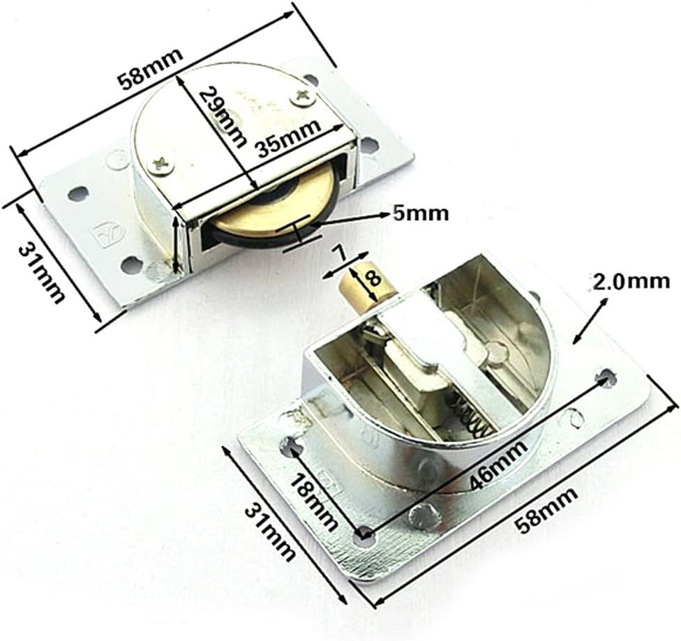 YuanQian YQ-1063 338- Rodamiento de puerta corredera de armario, rueda de nailon