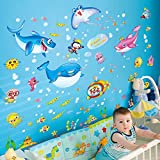 Kaimao Cute Cartoon Animals Wall Stickers Home Decals Art Murals Removable Wallpapers for Children Kids Bedrooms Decoration