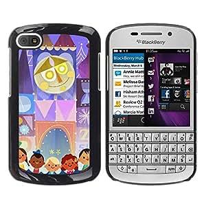 Be Good Phone Accessory // Dura Cáscara cubierta Protectora Caso Carcasa Funda de Protección para BlackBerry Q10 // Kids Mother Circus Drawing