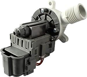 HQRP Washer Drain Pump works with Whirlpool 1CWTW4740YQ0 1CWTW4840YW0 3LCHW9100WQ0 WFW8300SW0 WFW8300SW02 WFW8300SW03 WTW4850XQ0 WTW4850XQ1 WTW4850XQ3 WTW5600XW0
