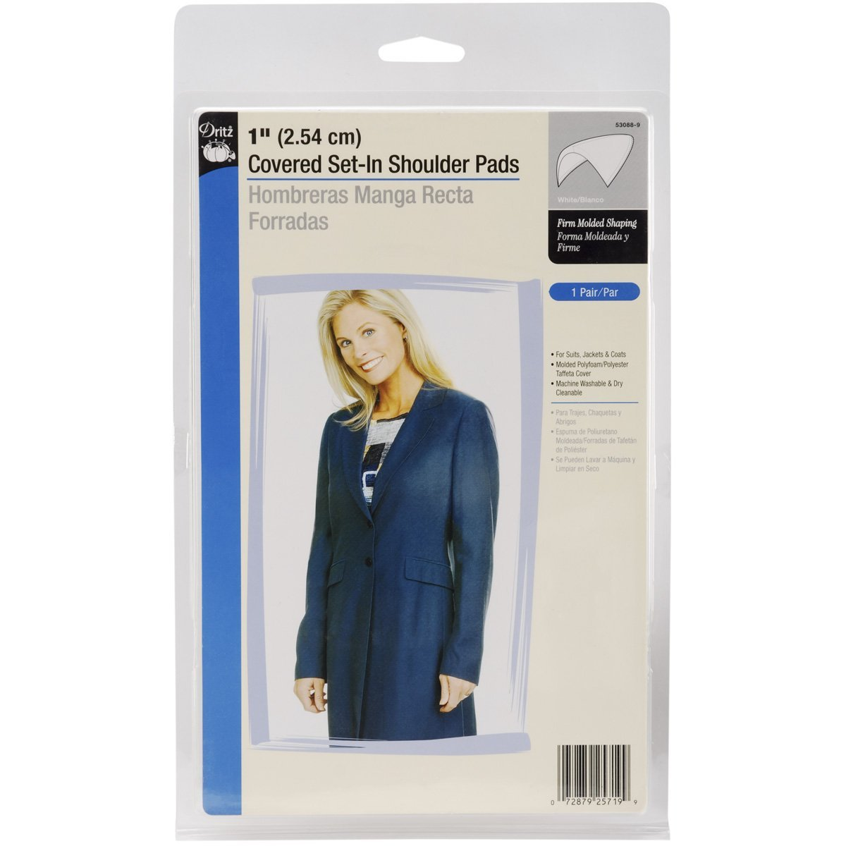 Amazon.com: Dritz 53070 Shoulder Pads, Covered Set-In, 1/4-Inch 1/4