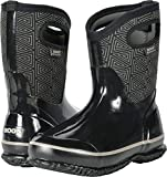 Bogs Women's Classic Triangles Mid Snow Boot, Black/Multi, 9 M US