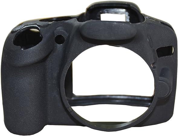 Seguro silicona cámara caso de goma bolsa de cuerpo piel funda protectora para Nikon D3100 D3200 D3300 DSLR Cámara: Amazon.es: Electrónica
