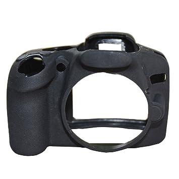 Seguro silicona cámara caso de goma bolsa de cuerpo piel funda ...