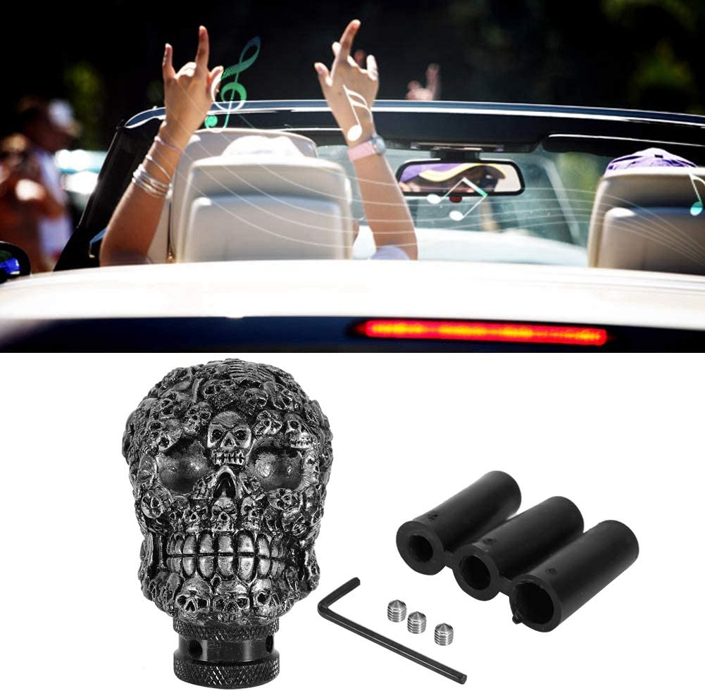 Gear Shift Knob,Fydun Skeleton Skull Car Modified Manual Gear Shift Knob Stick Lever Shifter Universal Shift Knob Cover Handbrake Grip Interior Decor