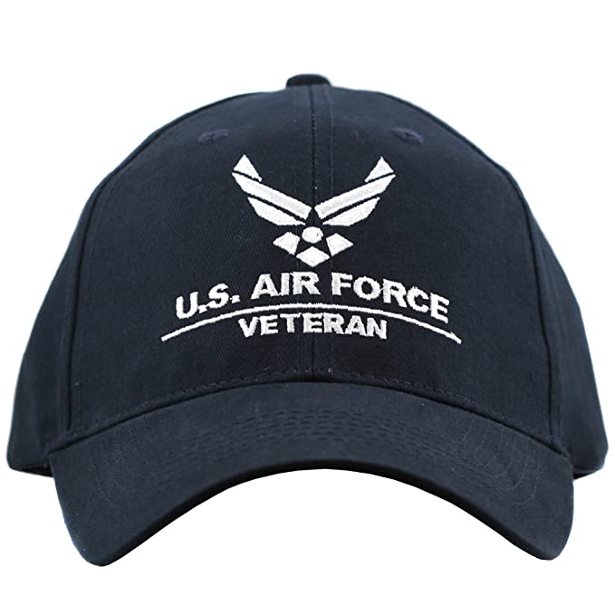 d5f457bf17 Amazon.com  Eagle Crest US Air Force Veteran Hat For Men and Women Air Force  Insignia Caps  Clothing