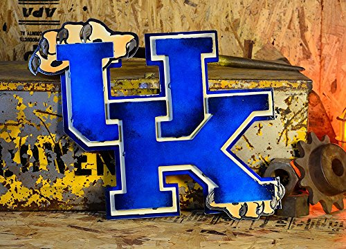 Gear New University of Kentucky 3D Vintage Metal College Man Cave Art, Large, Blue/White/Brown by Gear New (Image #2)