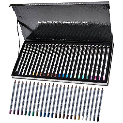 SHANY Slim Pencil Eyeliner Set - 24 Must Have Shades