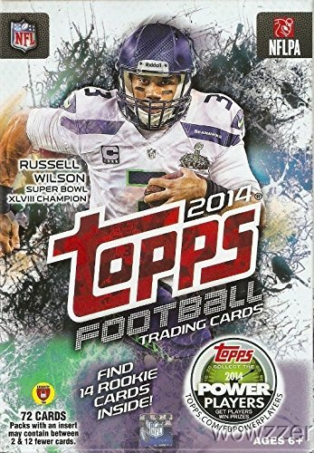 2014 Topps NFL Football Hanger CASE with EIGHT(8) HUGE EXCLUSIVE Factory Sealed Boxes! Each Box includes 72 Cards with 14 Rookie Cards! Total 576 Cards including 112 Rookie Cards ! Hot !