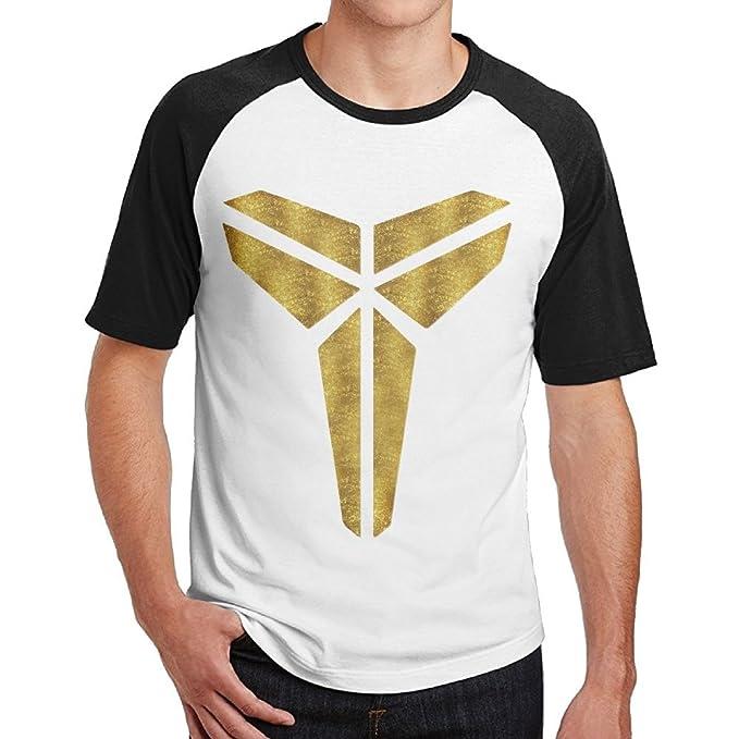 96f5ad20bad Huaxinsuliaozhipin Men s Kobe-Bryant-Los-Angeles-Lakers-The-Black-Mamba-Logo-MVP-Player-24  Baseball T Shirts Tee  Amazon.ca  Clothing   Accessories