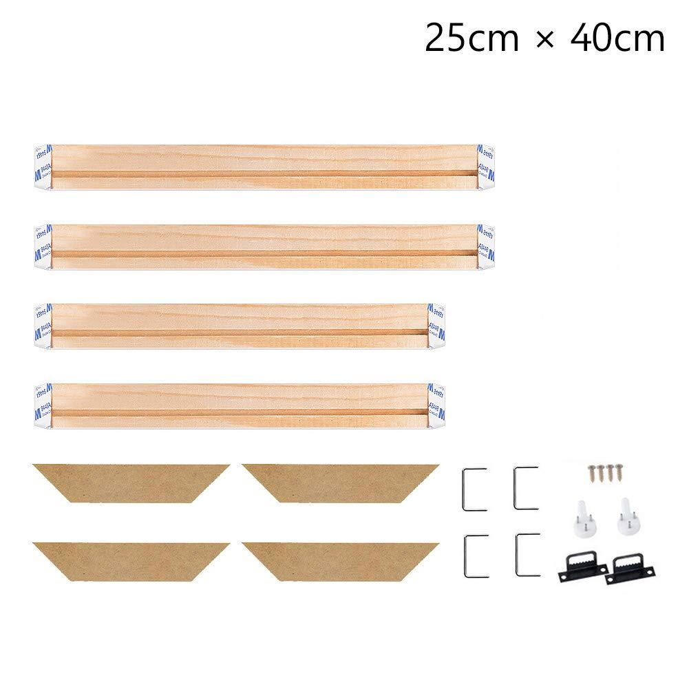 Stretcher Bars,Wood Canvas Frame Kit,DIY Canvas framm for Oil Painting,Art Stretcher Bars 20x45cm 8x18 Inch