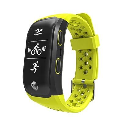 'amhomely' s9080.96OLED HD GPS IP68étanche Bluetooth Smart Watch Fitness Tracker Montre avec bracelet élastique Fréquence Cardiaque activité Tracker Santé Podomètre