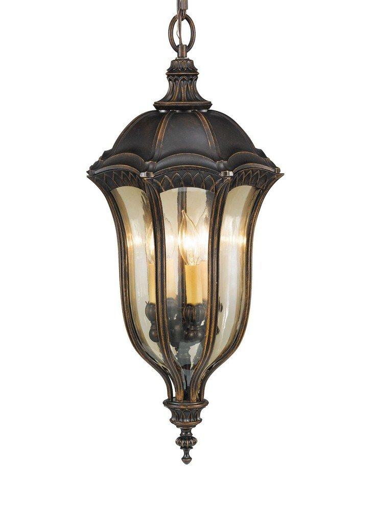 Feiss OL6012WAL 4-Bulb Outdoor Wall Lantern, Walnut Finish