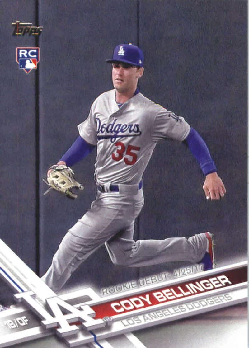 2017 Update Series #US214 Cody Bellinger Los Angeles Dodgers Baseball Rookie Debut Card