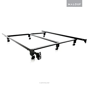MALOUF Structures STEELOCK Super Duty Steel Wedge Lock Metal Bed Frame - Full