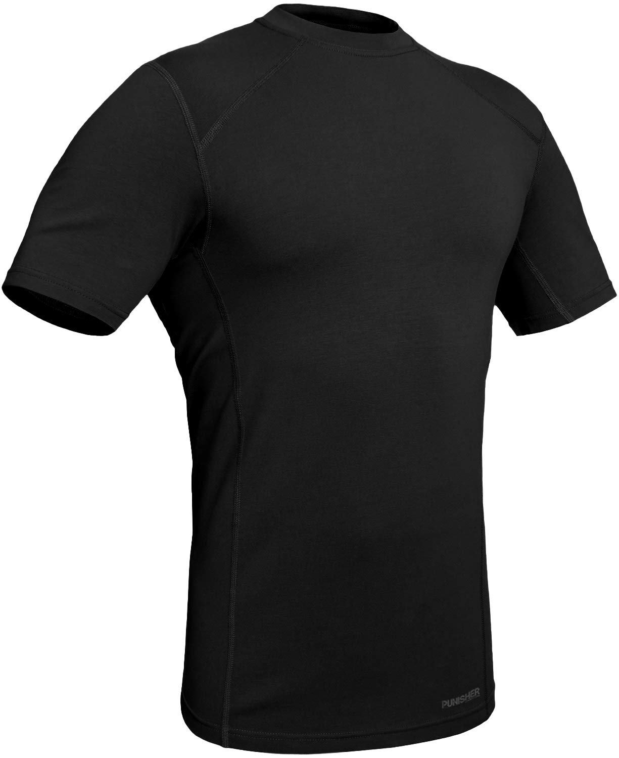 281Z Military Stretch Cotton Underwear T-Shirt - Tactical Hiking Outdoor - Punisher Combat Line (Black, Medium) by 281Z