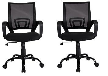 amazon com black ergonomic mesh computer office desk mjbpcxp