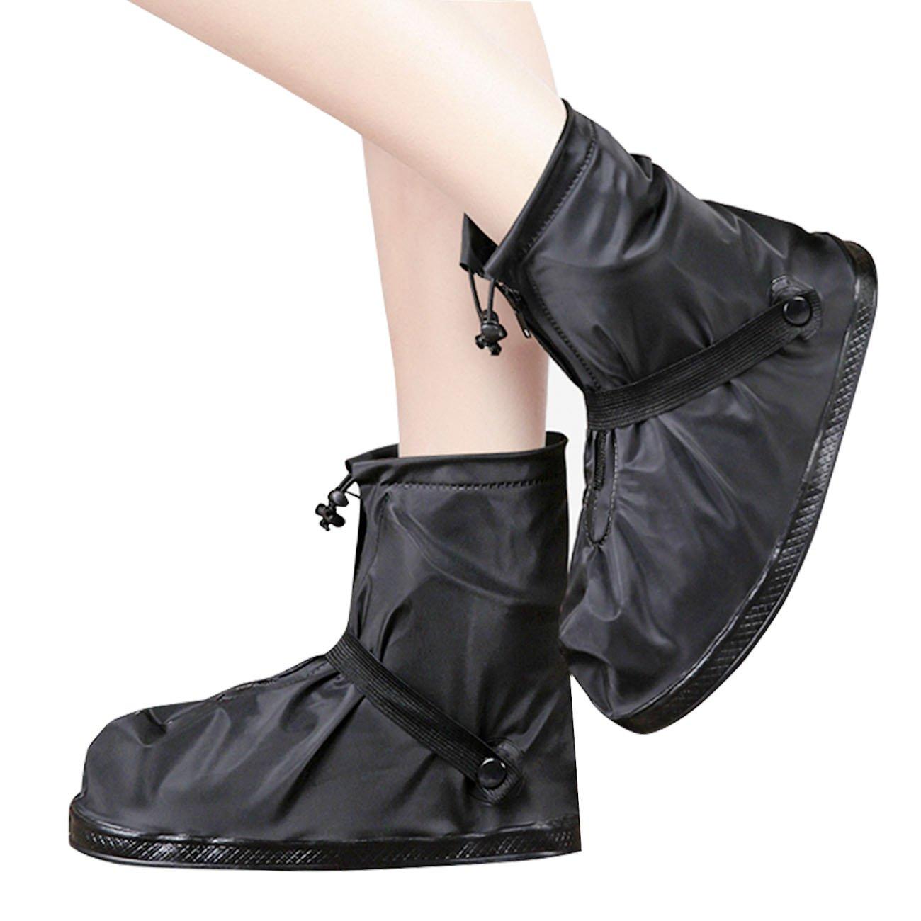 Life-C Black Waterproof Snow Rain Shoes Covers Women Men XXXXL by Life-C (Image #6)