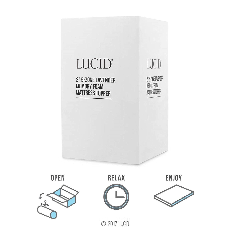 Lucid (5-Zone Lavanda Memoria colchón de Espuma Topper: Amazon.es: Juguetes y juegos