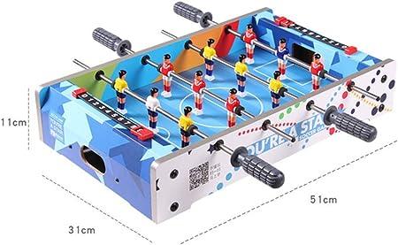MJ-Games Mesa de futbolín de Mesa, Mini Sports Arcade Soccer para Sala de Juegos, Accesorios incluidos, Azul: Amazon.es: Hogar