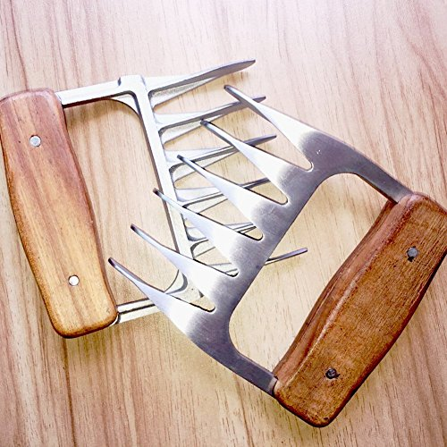 Pulled Pork Meat Shredder Claws Stainless Steel Bear Meat Claws BBQ Meat Forks Handler for Shredding Handling Carving Food Barbecue for Pork, Turkey, Chicken, Brisket by Coddoge