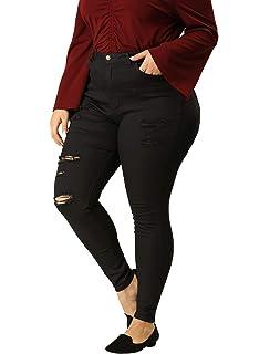 Amazon.com: Pantalones vaqueros de talle alto para mujer ...