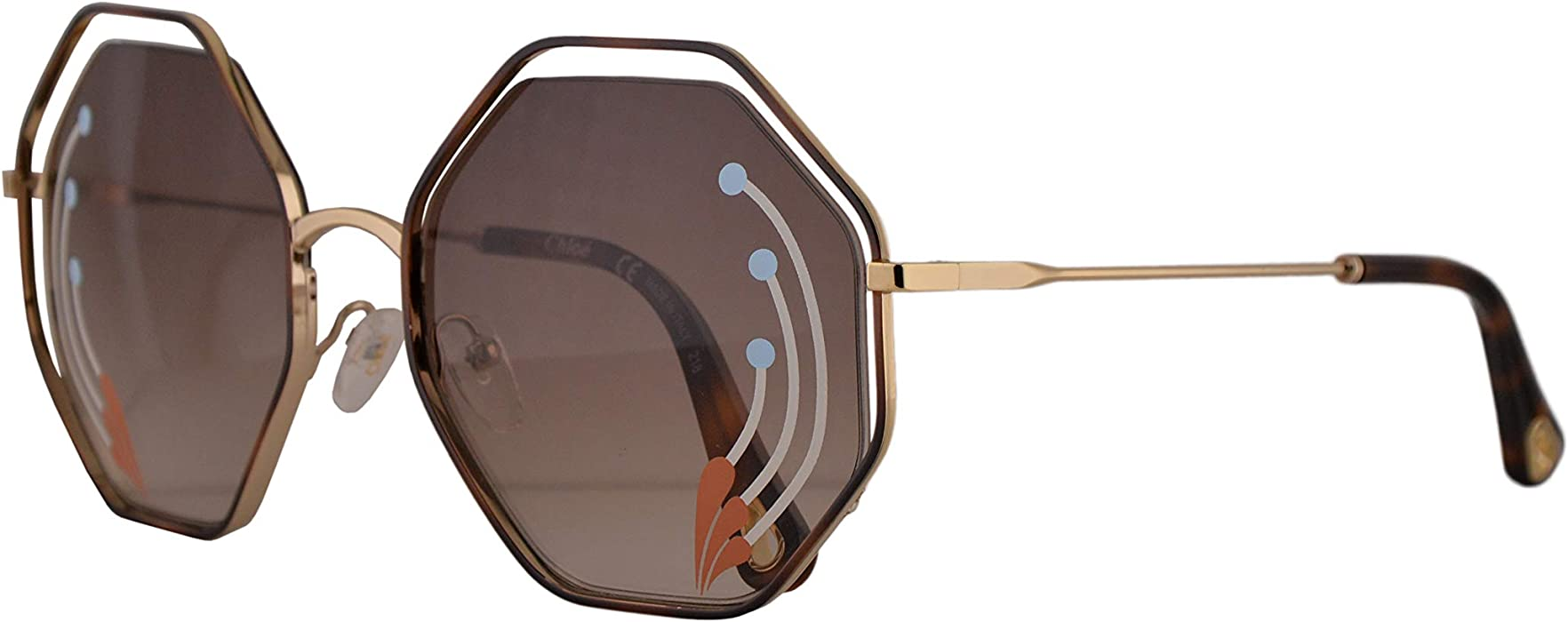 bfd91c729cbd Chloe Poppy Limited Edition CE132SRI Sunglasses Gold w Brown Gradient Lens  58mm 258 CE 132SRI
