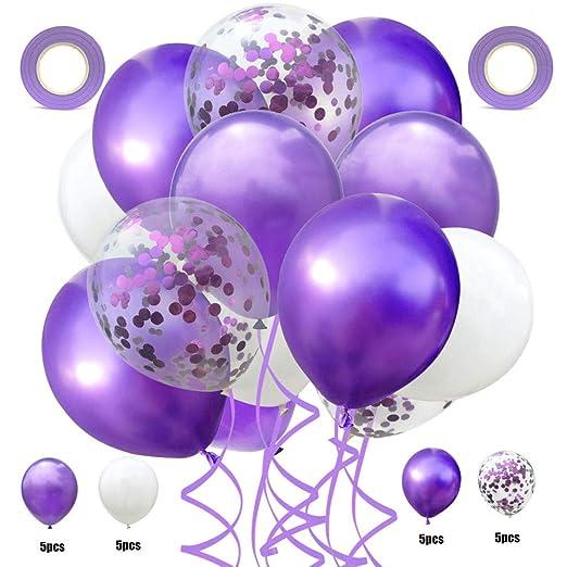 qin-er Balloons 22 Piezas Globos de látex Fiesta de ...