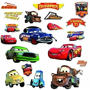 RoomMates Disney Pixar Cars – Piston Cup Champs Peel and Stick Wall Decal