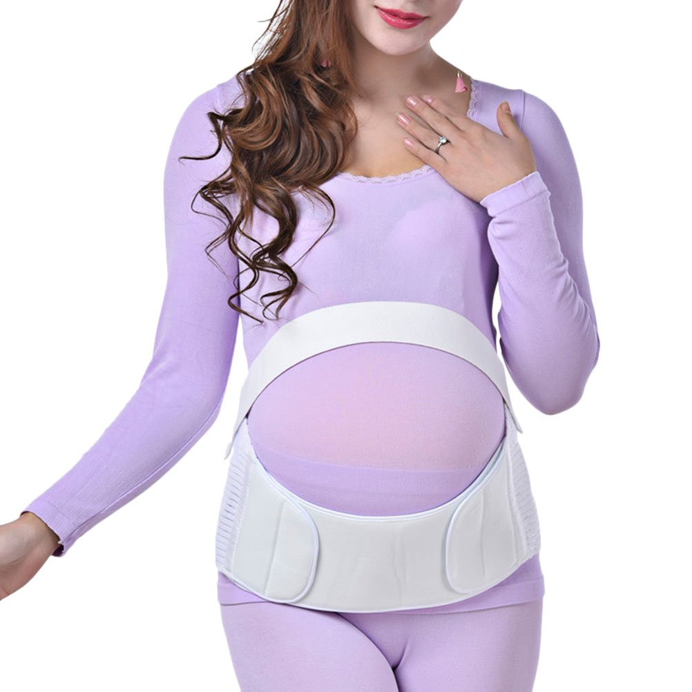 Zhhlinyuan Maternity Support Belt Waist Back Abdomen Belly Band Soft Seamless Comfortable for mujeres embarazadas