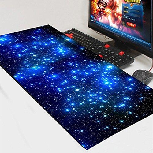 Vaorwne Gaming Mouse Pad Locking Large Mouse Mat PC Computer Laptop Mousepad for MackBook CS GO Dota2 LOL:Star