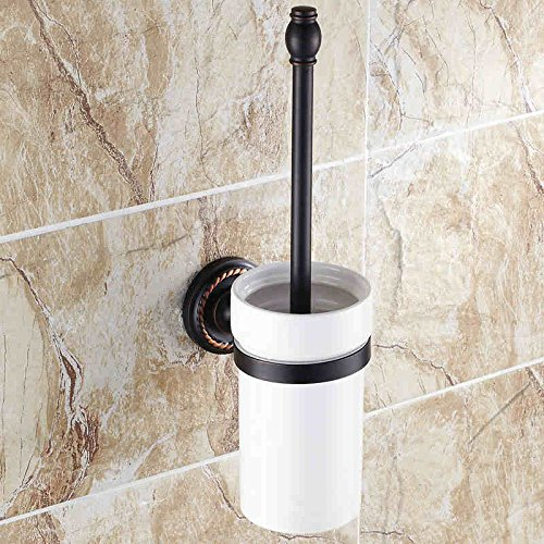 XY&XH Toilet Brush Holder , Traditional Oil Rubbed Bronze Wall Mounted Toilet Brush Holder , Bronze