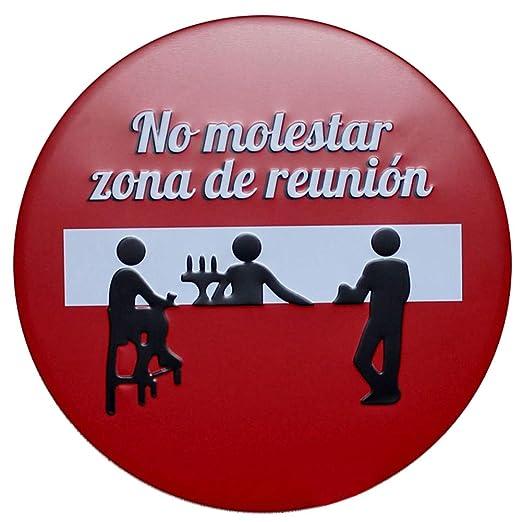 Hosaire 1x Cartel de Estaño Redondo No Molestar Zona de ...