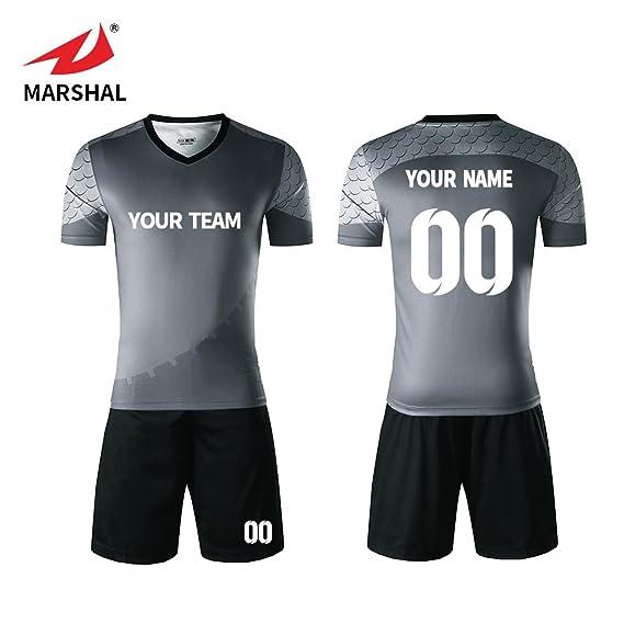 59b2baf59 ZHOUKA Wholesale Youth Men Football Training Suits Simple Sportswear Blank  Uniforms Dress Soccer Wear Soccer Jersey  Amazon.co.uk  Sports   Outdoors