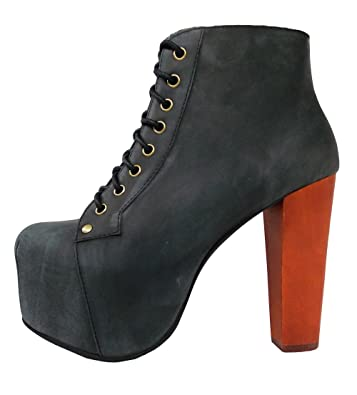 d7da047e9c2 Jeffrey Campbell Womens Lita Distressed Black Pump - 6.5