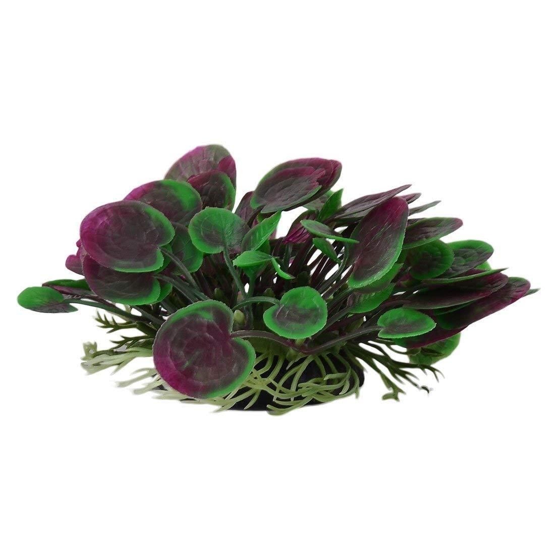 1Pc Aquarium Fish Tank Artificial Flower Water Plant Decor Ornament purple Green