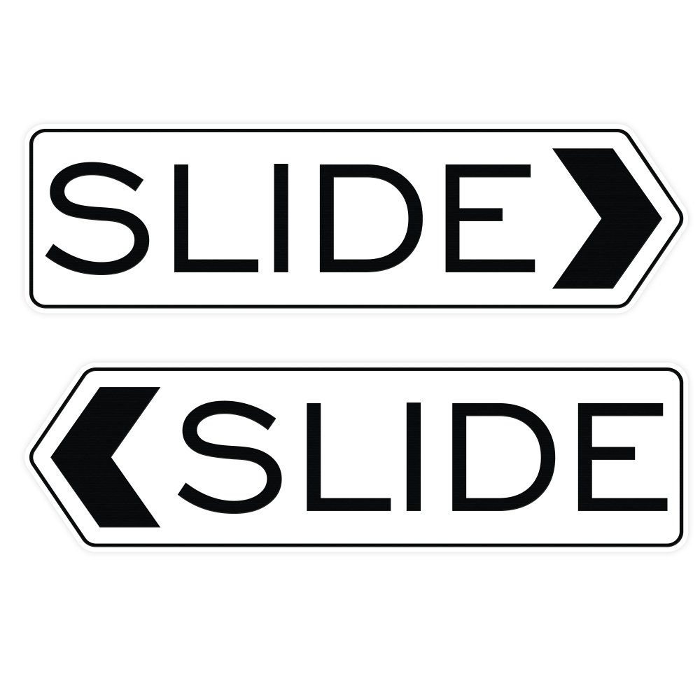 Large Lt Gray Designer Slide Door Sign