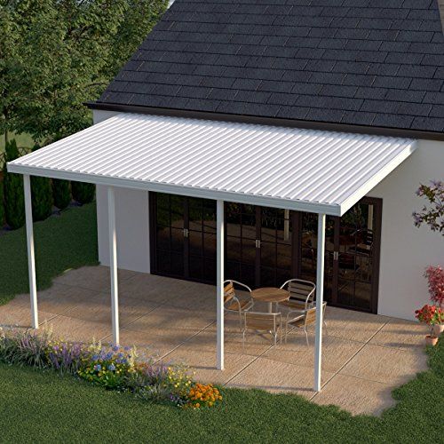 Heritage Patios 30 ft. x 12 ft. White Aluminum Patio Cover (4 Posts / 10 lb. Non-Snow Areas) by Heritage Patios