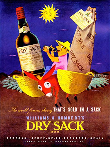 VINTAGE ADVERT WINE ALCOHOL DRY SACK SHERRY NEW FINE ART PRINT POSTER PICTURE 30x40 CMS CC4905