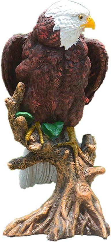 12 Inch Bald Eagle Garden Statue Bald Eagle Resin Statue Simulation Animals Statue Simulation Eagle Garden Sculpture & Statue for ndoor Outdoor Garden Office Ornament Home Décor