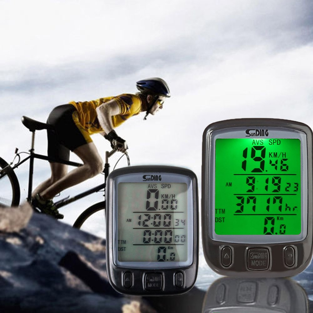 Nameo Bike Computer, Multi Function Waterproof LCD Computer Odometer for Sport Cycle, Bicycle Speedometer, Bike Odometer Cycling Computers