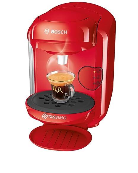 Bosch TAS1403 Tassimo Vivy 2 Cafetera de cápsulas,1300 W, color rojo