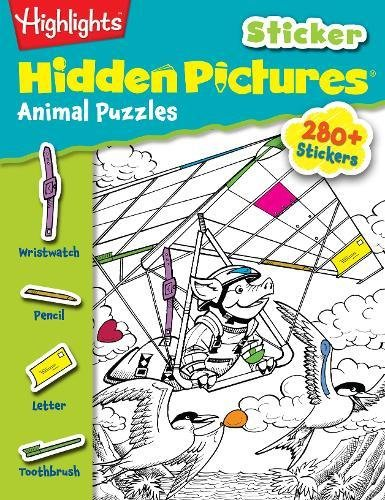 Read Online Animal Puzzles (Highlights™ Sticker Hidden Pictures®) PDF