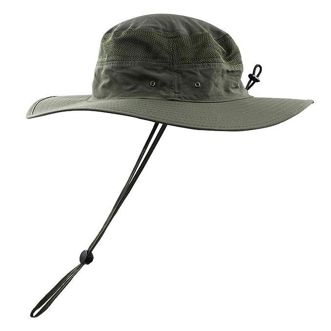 69c35ed39 Women Summer Sun Hat UV Protection Wide Brim Mesh Bucket Hats UPF 50+ for  Outdoor
