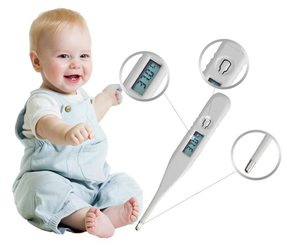 Digital infantil Adulto Cuerpo Digital LCD Term/ómetro Medici/ón de Temperatura k/örperthermometer beb/é ni/ños Adecuado Term/ómetro