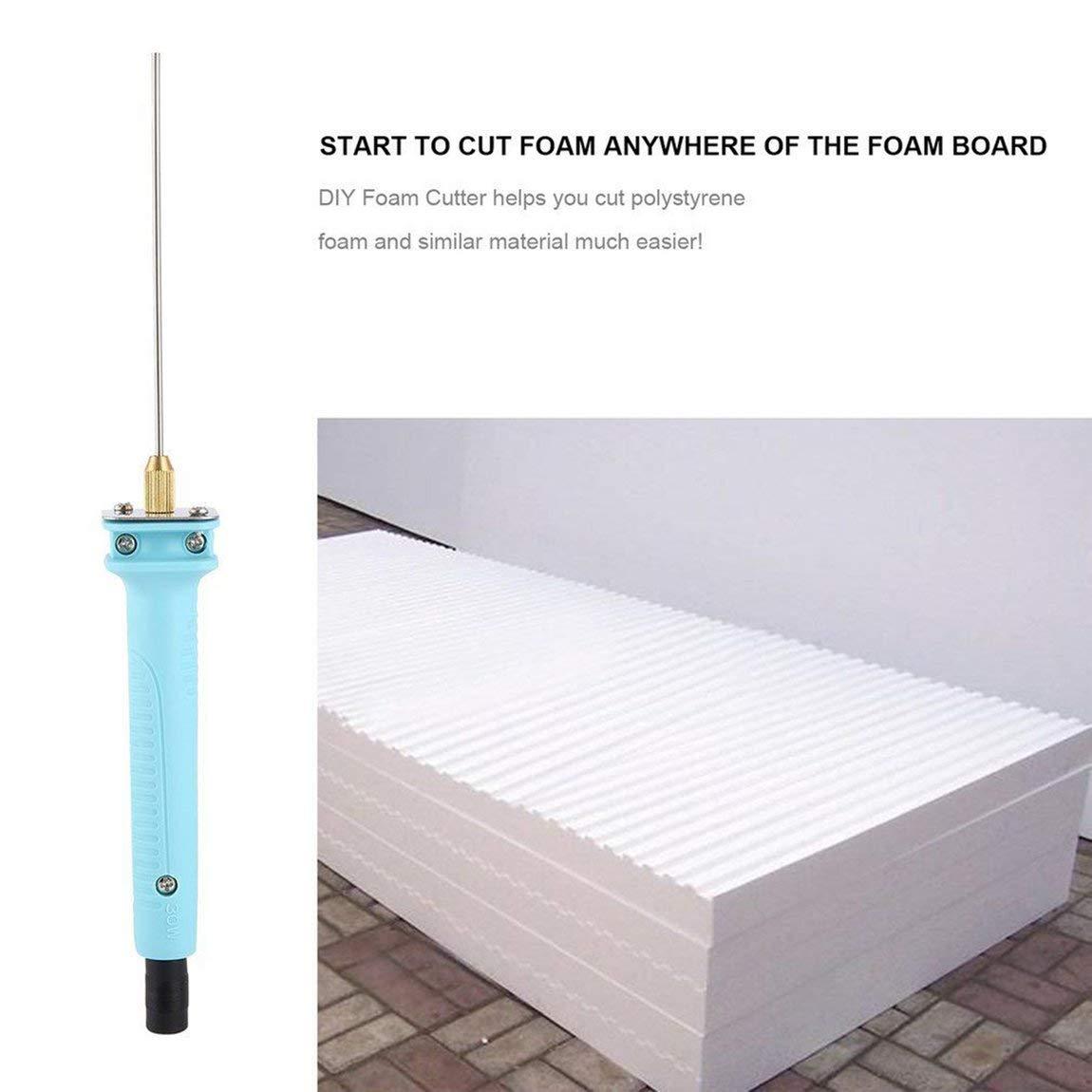 Cortador de espuma profesional 15W 10CM pluma de poliestireno de espuma eléctrica Pen Portable herramientas de corte de espuma de poliestireno: Amazon.es: ...