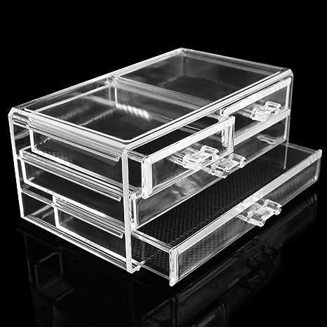 Nikgic Caja Para Cosmticos Maquillaje Cajn, Caja Transparente para ...