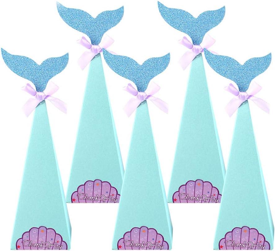 10Pcs Sirena Dulces Cajas Bolsas de Regalo, Sirena Cajitas de Golosinas de Papel Chuches Cajas para Fiesta Cumpleaños: Amazon.es: Oficina y papelería