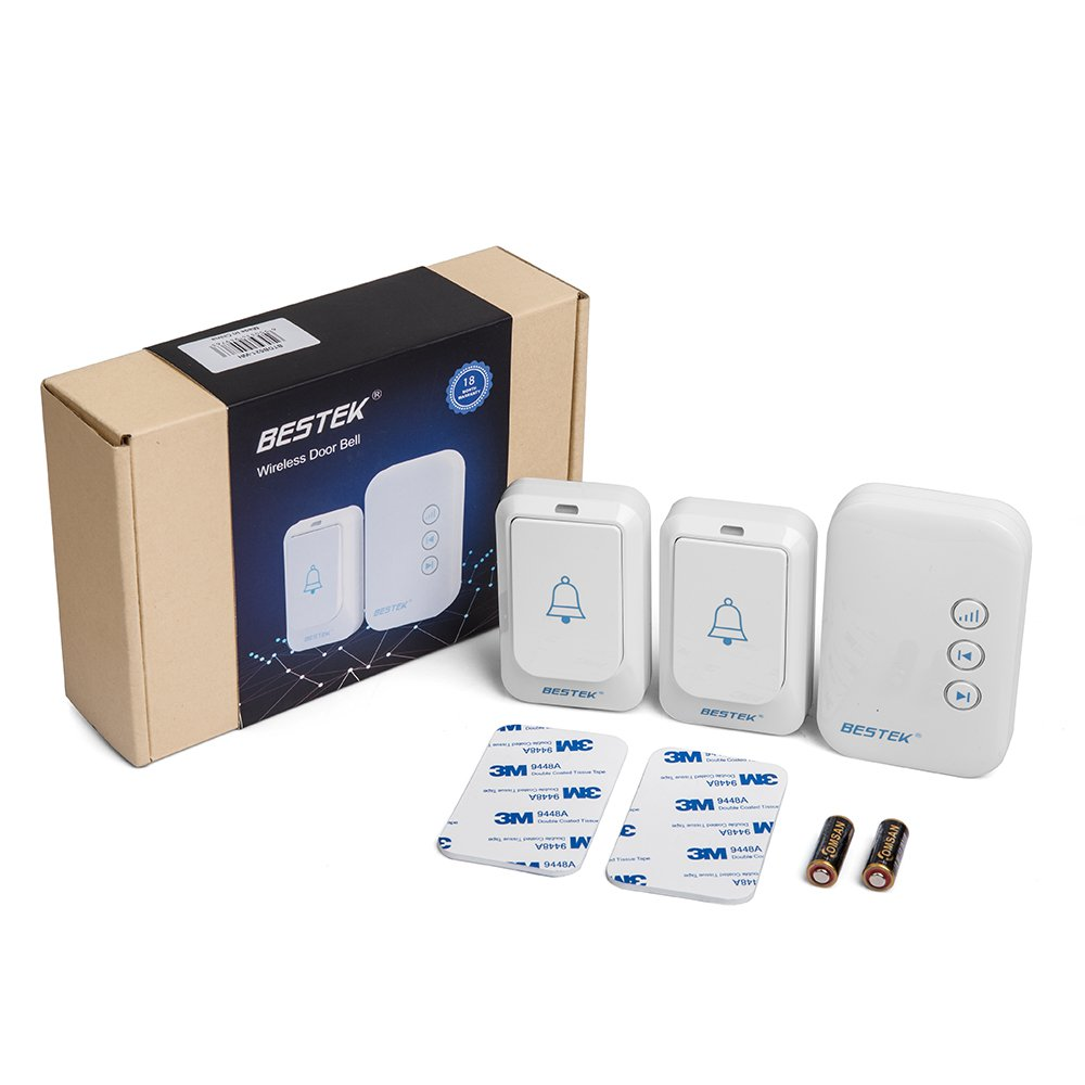BESTEK Wireless Doorbell, Doorbell Kit Operating at over 500-feet Range with 2 Remote Buttons and 1 Plugin Receiver, LED Flash Lights, 36 Chimes for Home and Office (FCC Certification)-White by BESTEK (Image #6)